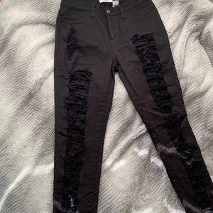 Fashion Nova black denim jeans